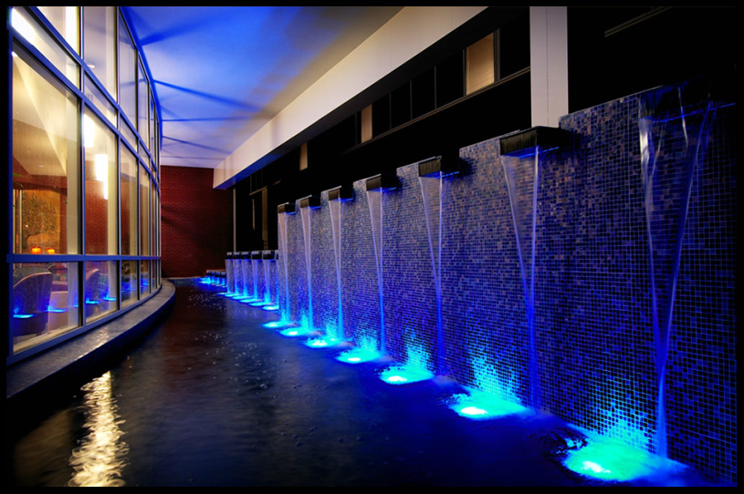 commercial photography blue waterfalls commercial architecture photography atlanta